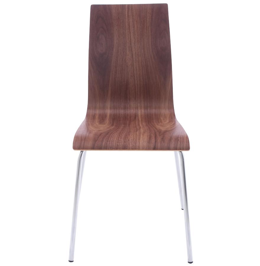 Chaise de salle à manger design ´ESPERA´ en bois finition Noyer