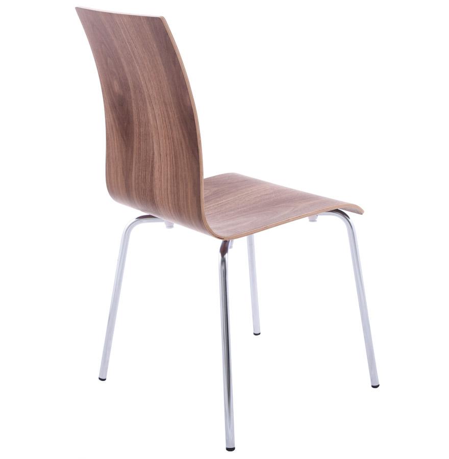 chaise de salle manger design espera en bois finition noyer. Black Bedroom Furniture Sets. Home Design Ideas