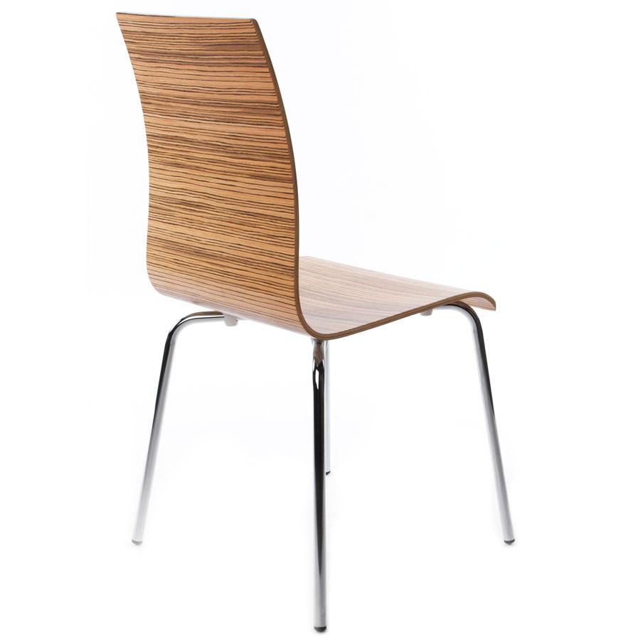 espera zebrano newsite 02 - Chaise de salle à manger design ´ESPERA´ en bois finition Zebrano