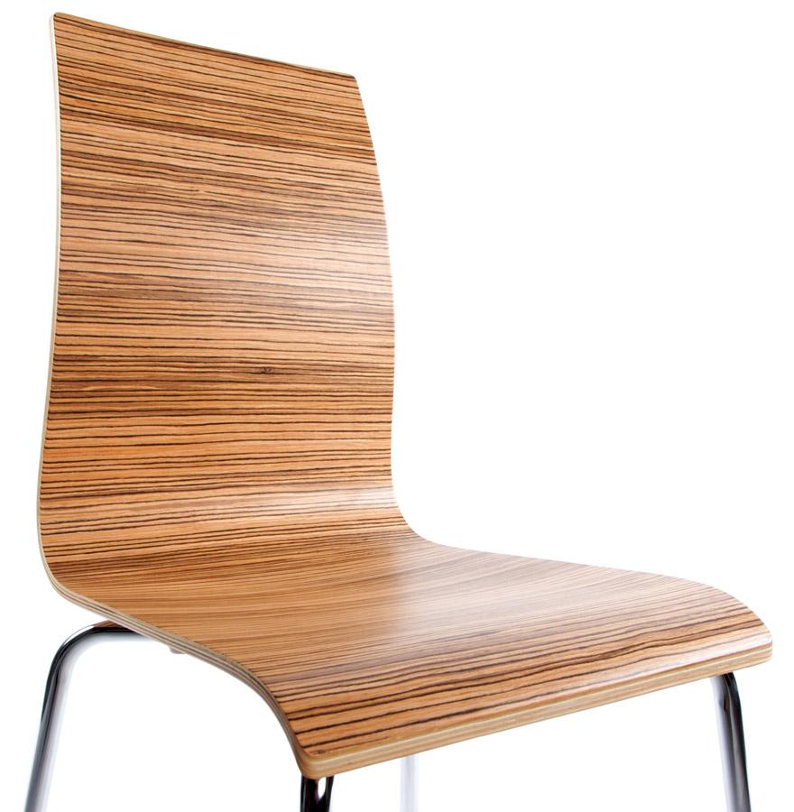 espera zebrano newsite 03 - Chaise de salle à manger design ´ESPERA´ en bois finition Zebrano