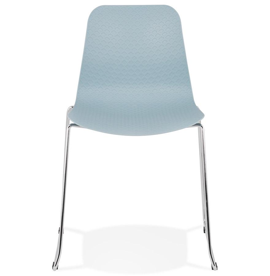 chaise moderne expo bleue chaise traineau design. Black Bedroom Furniture Sets. Home Design Ideas