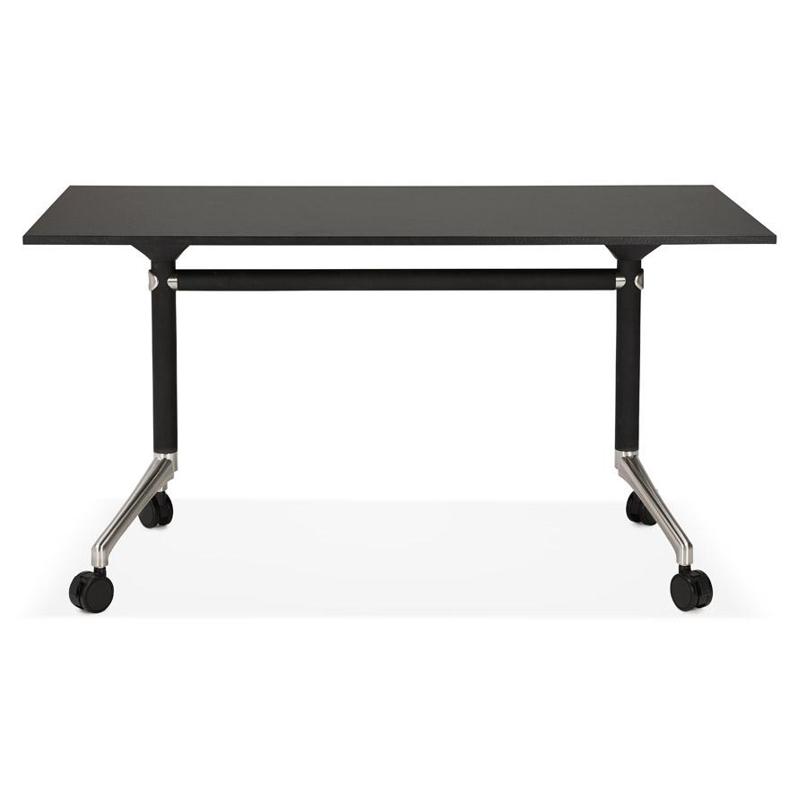 Bureau pliable ´FLEXO´ noir sur roulettes - 140x70 cm