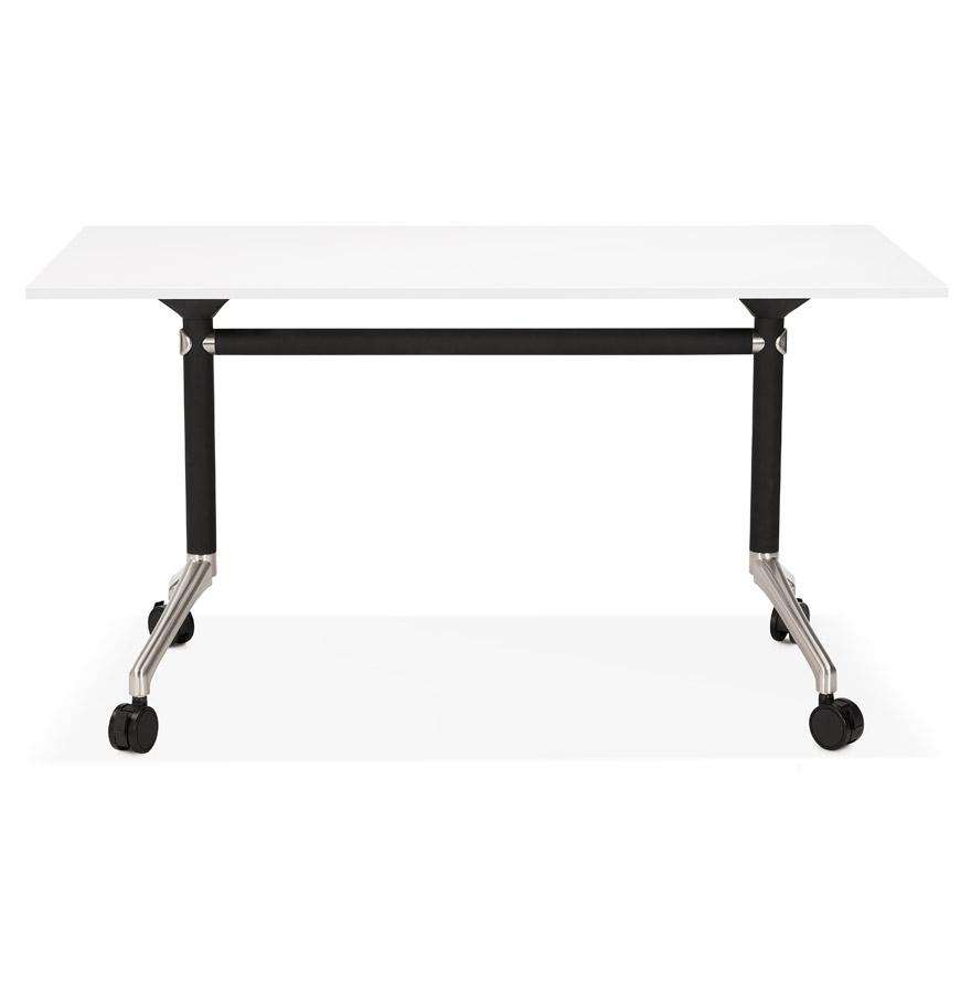 Bureau pliable ´FLEXO´ blanc sur roulettes - 140x70 cm