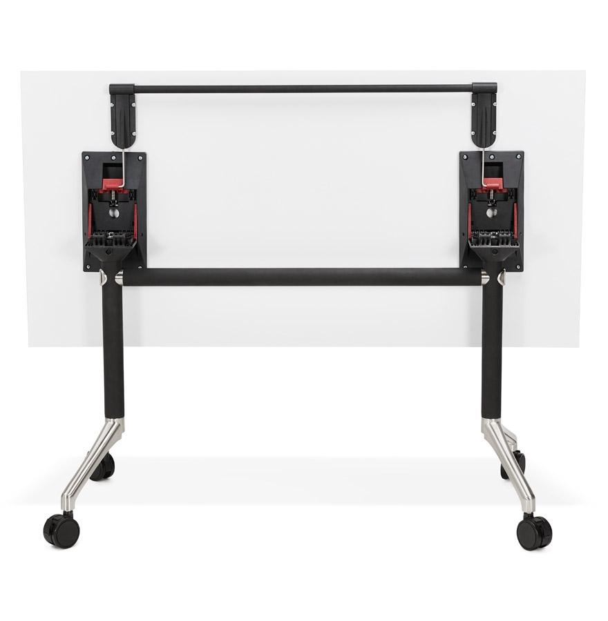 opvouwbaar bureau flexo wit op wielen design rechte tafel. Black Bedroom Furniture Sets. Home Design Ideas