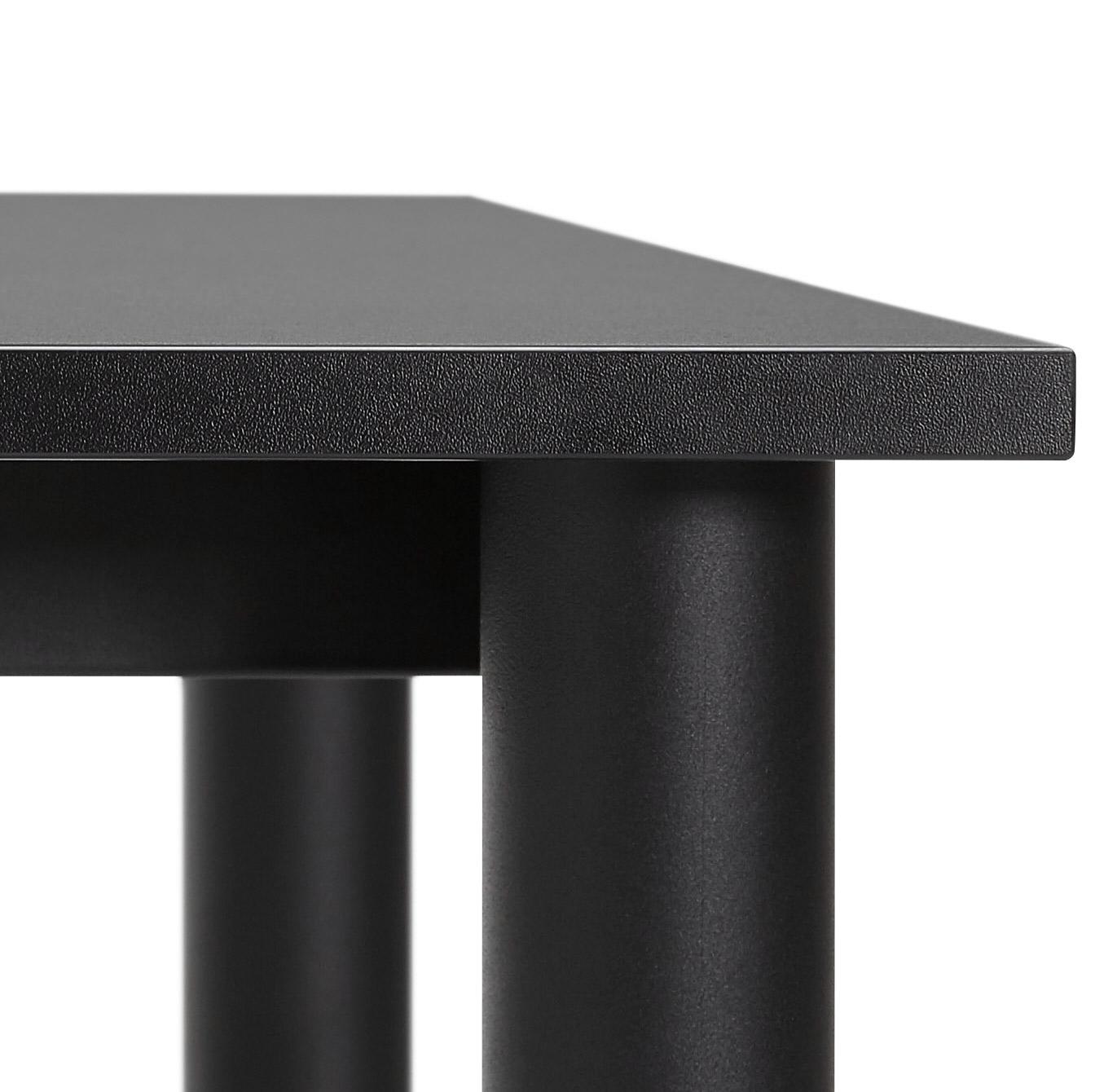 zwart design bureau focus vergadertafel 160x80 cm. Black Bedroom Furniture Sets. Home Design Ideas