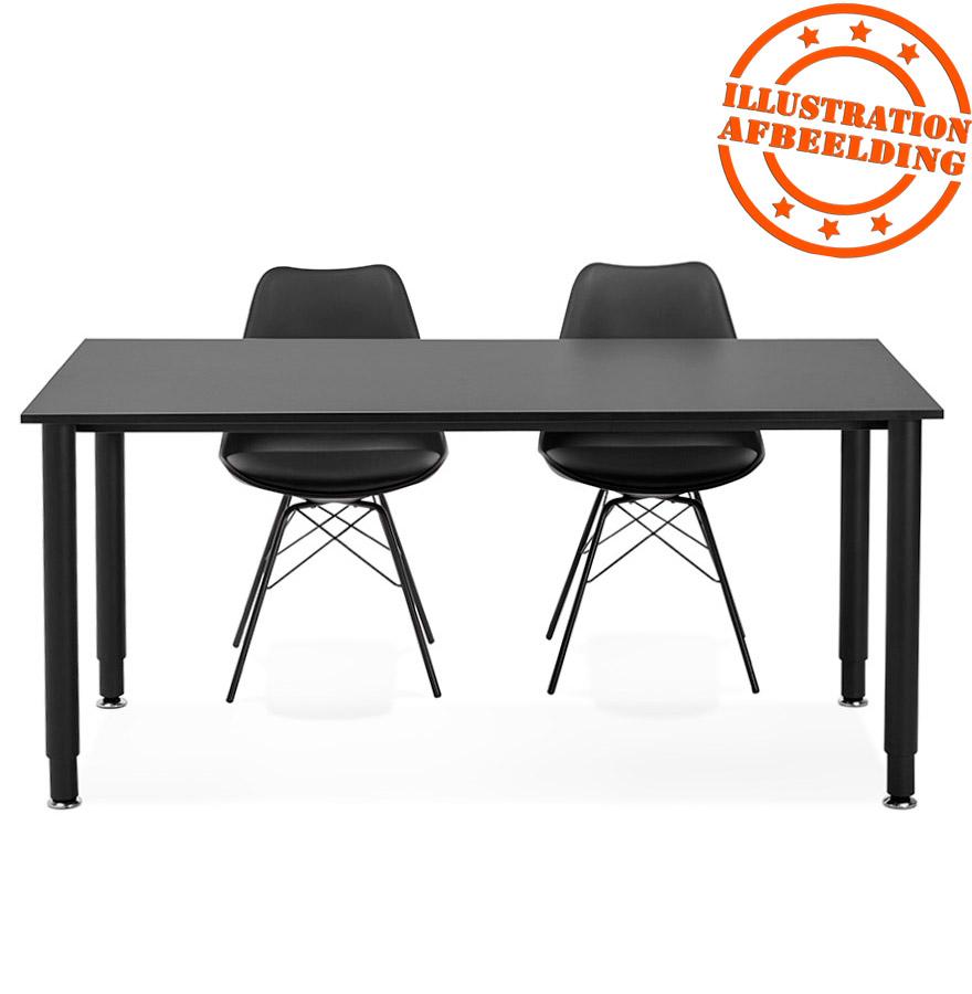 bureau design focus noir table de r union 160x80 cm. Black Bedroom Furniture Sets. Home Design Ideas