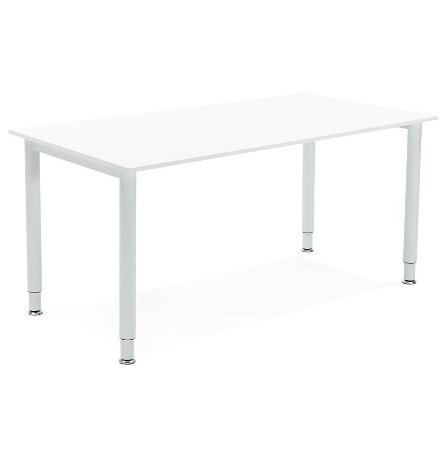 Table de réunion / bureau design ´FOCUS´ blanc - 160x80 cm
