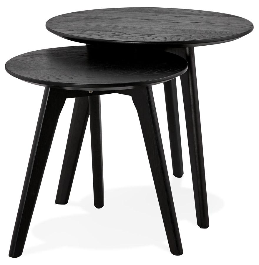 tables gigognes ronde gaby noires table d 39 appoint design. Black Bedroom Furniture Sets. Home Design Ideas