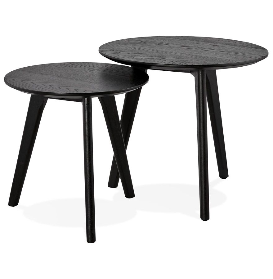 tables gigognes ronde gaby noires table d 39 appoint design. Black Bedroom Furniture Sets. Home Design Ideas