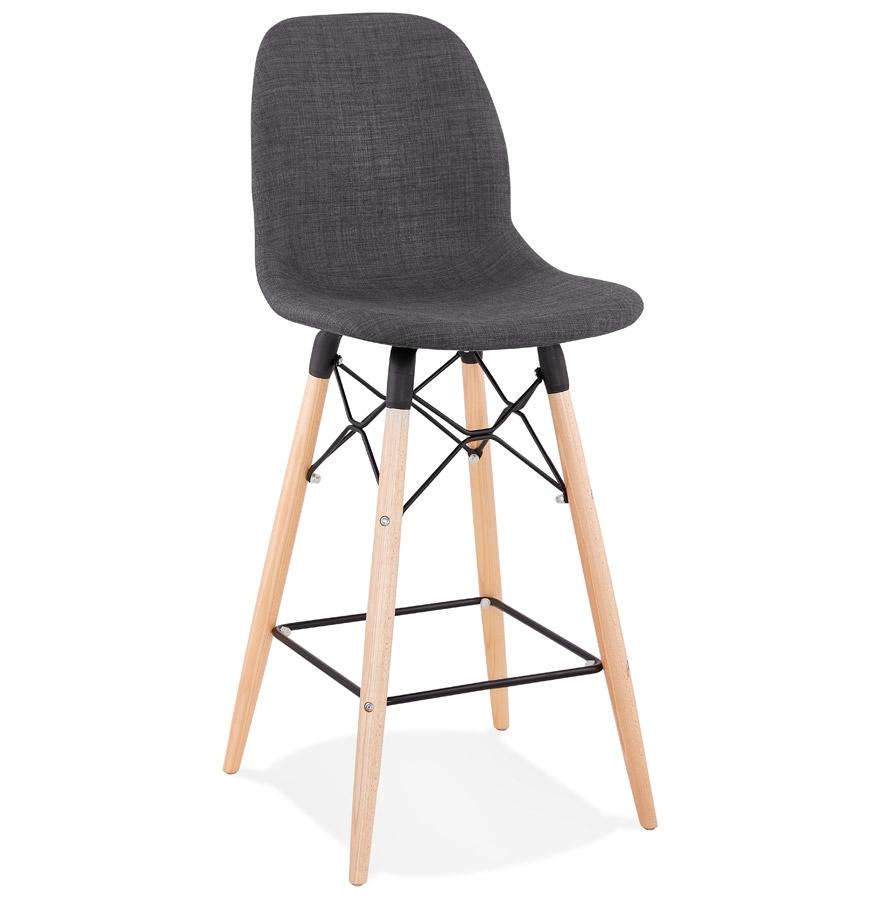tabouret snack galactik mini en tissu gris style scandinave. Black Bedroom Furniture Sets. Home Design Ideas