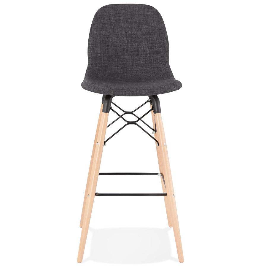 Tabouret de bar design ´GALACTIK´ en tissu gris foncé style scandinave