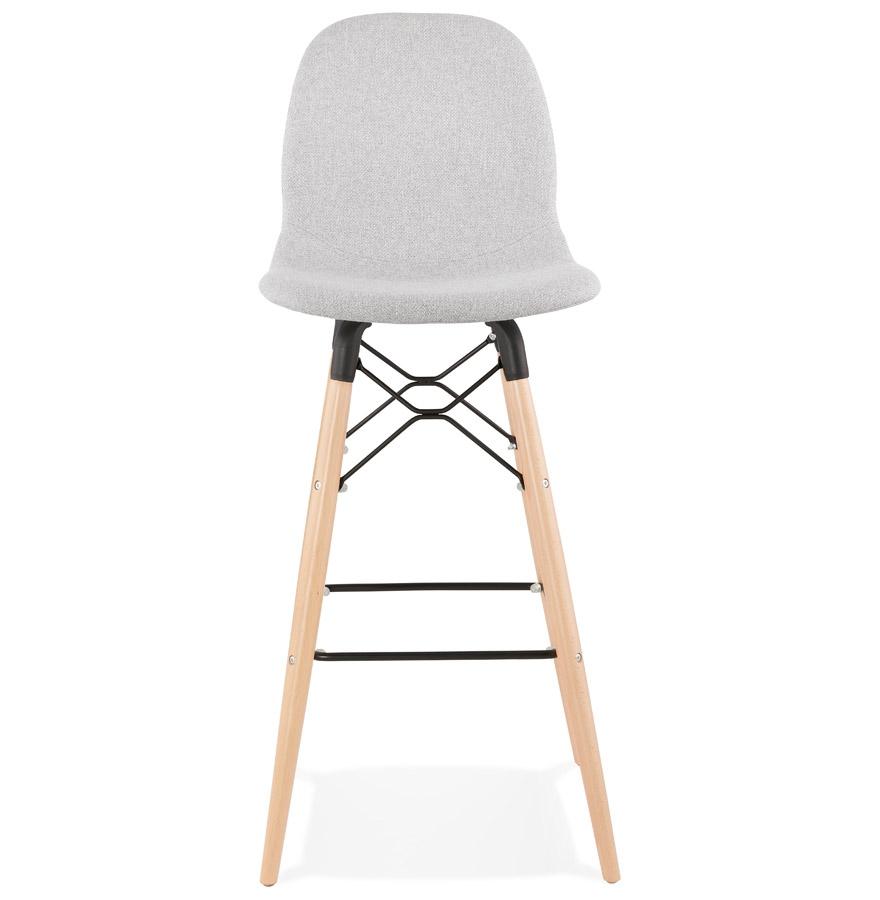 Tabouret de bar design ´GALACTIK´ en tissu gris clair style scandinave