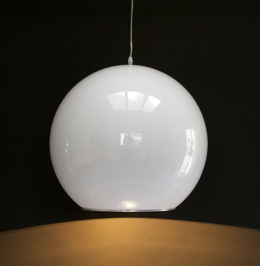 Suspension boule galaxy blanc lustre design for Luminaire blanc