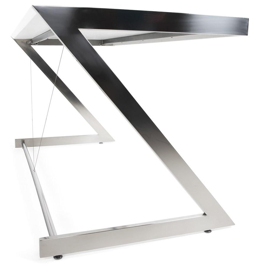 gama white newsite 02 1 - Bureau droit ´GAMA´ en bois blanc design