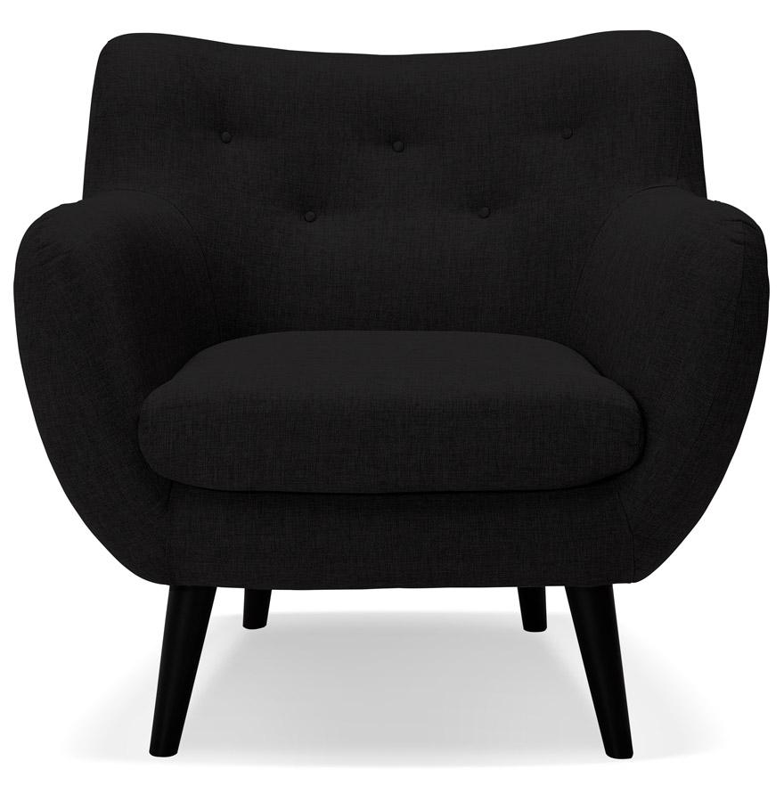 Fauteuil de salon 1 place ´GASPARD MINI´ en tissu noir