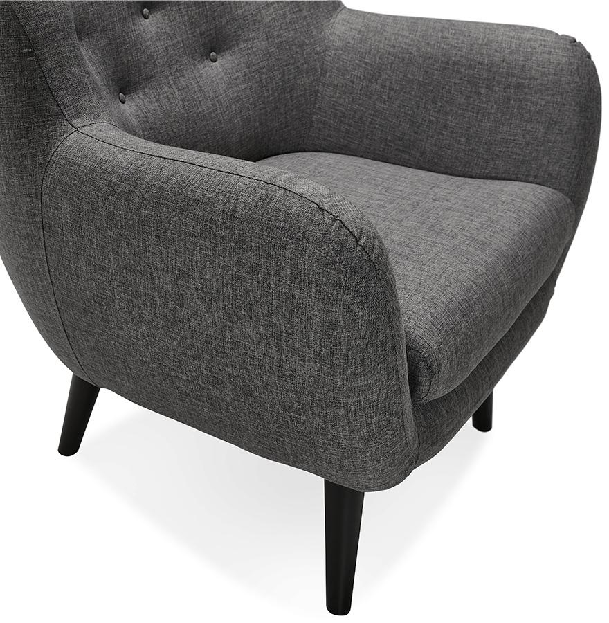 fauteuil de salon 1 place gaspard mini en tissu gris fonc. Black Bedroom Furniture Sets. Home Design Ideas
