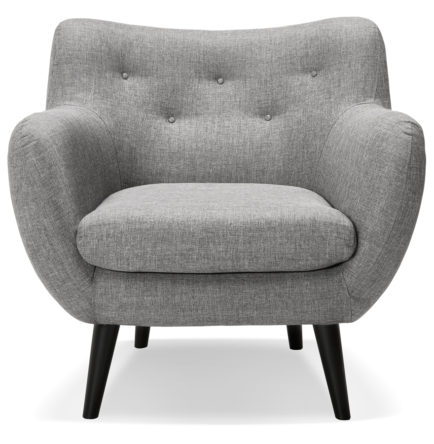 Fauteuil de salon 1 place gaspard mini en tissu gris clair - Fauteuils salon design ...