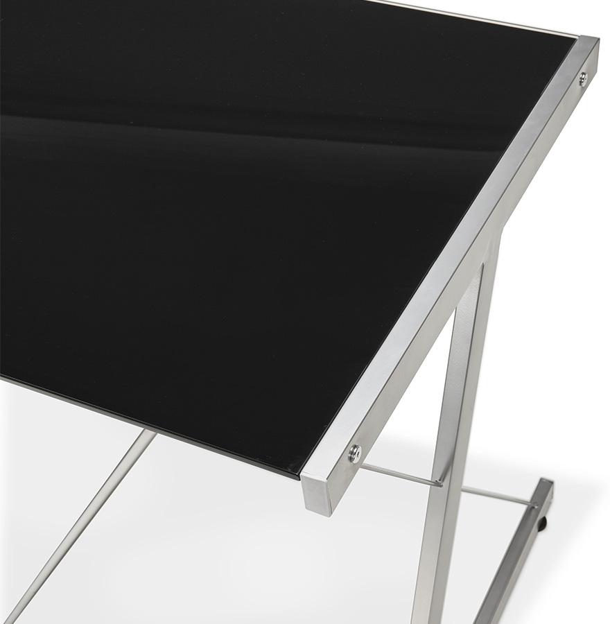 design Grand 'GEEK' en verre bureau noir d'angle CoWdxrBe