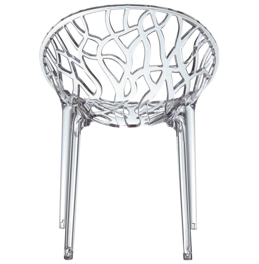 Chaise moderne ´GEO´ transparente en matière plastique