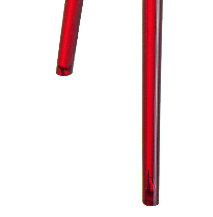 Chaise moderne ´GEO´ rouge transparente en matière plastique