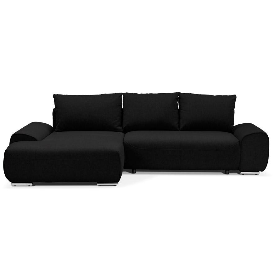 converteerbare design bank geronimo zwart hoekbank. Black Bedroom Furniture Sets. Home Design Ideas