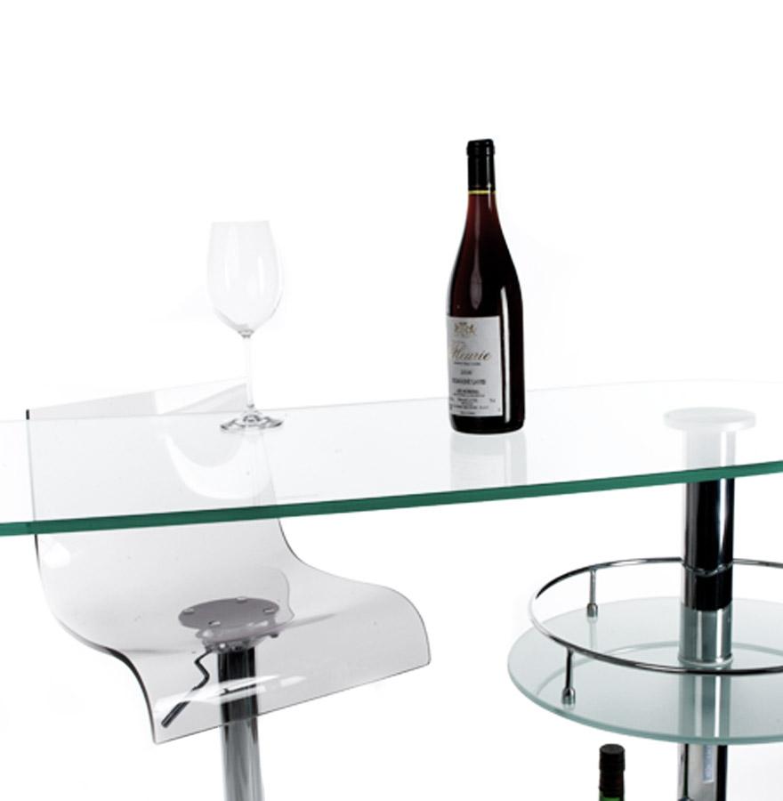 bar de salon design gin en verre bar design. Black Bedroom Furniture Sets. Home Design Ideas