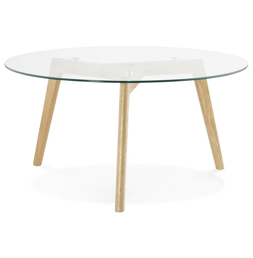 Table basse de salon ronde ´GLAZY´ en verre