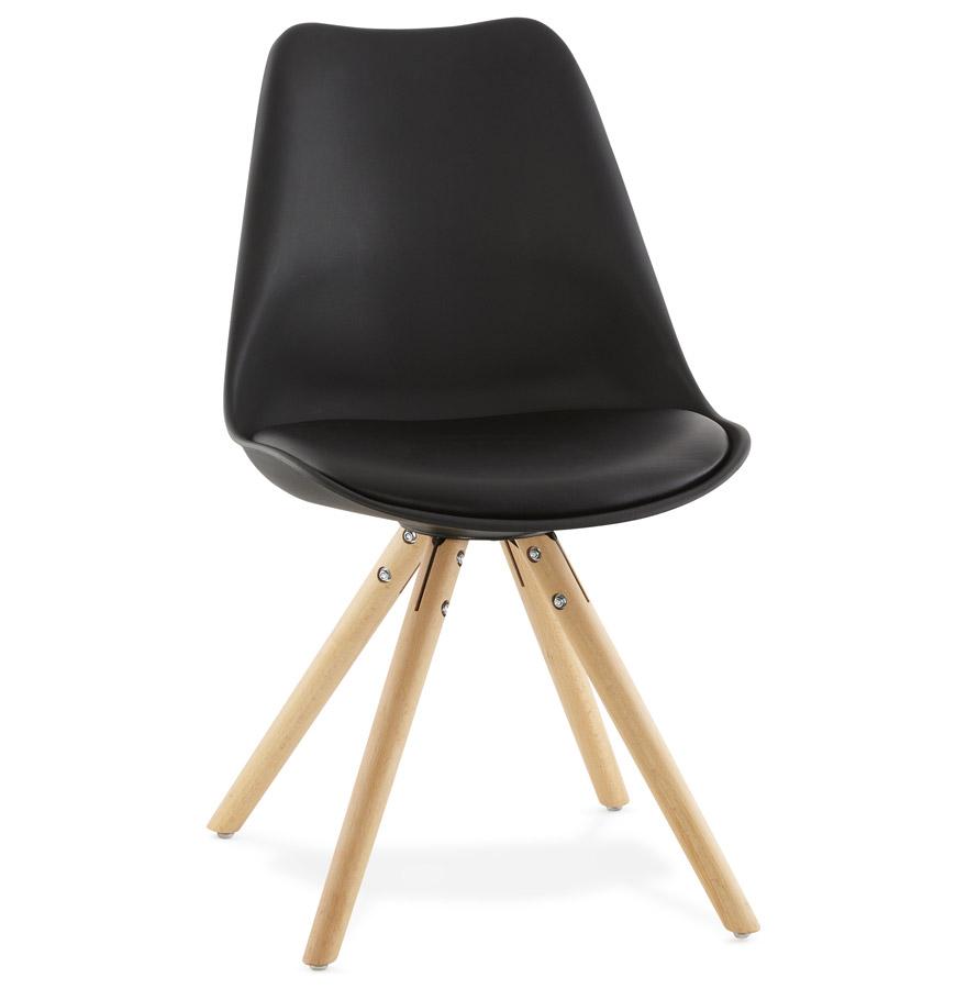 Zwarte scandinavische stoel gouja design stoel for Stoel bobois stoel