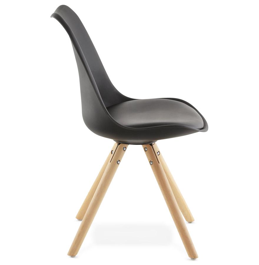 chaise scandinave gouja noire chaise design. Black Bedroom Furniture Sets. Home Design Ideas