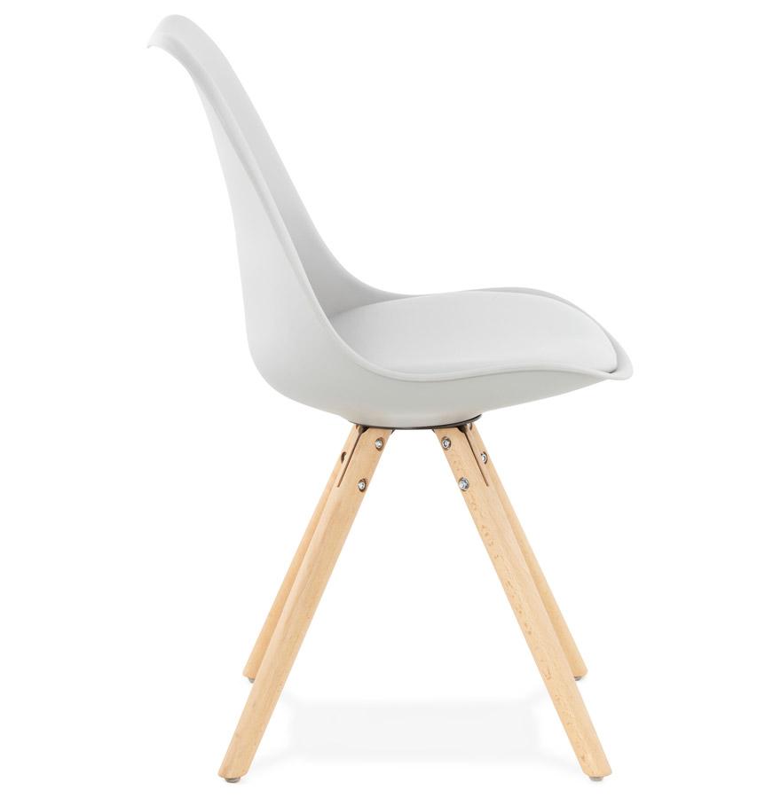 Chaise scandinave ´GOUJA´ grise
