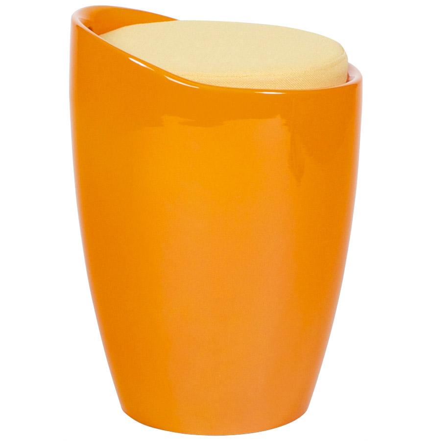 Tabouret coffre d´appoint ´GUM´ orange