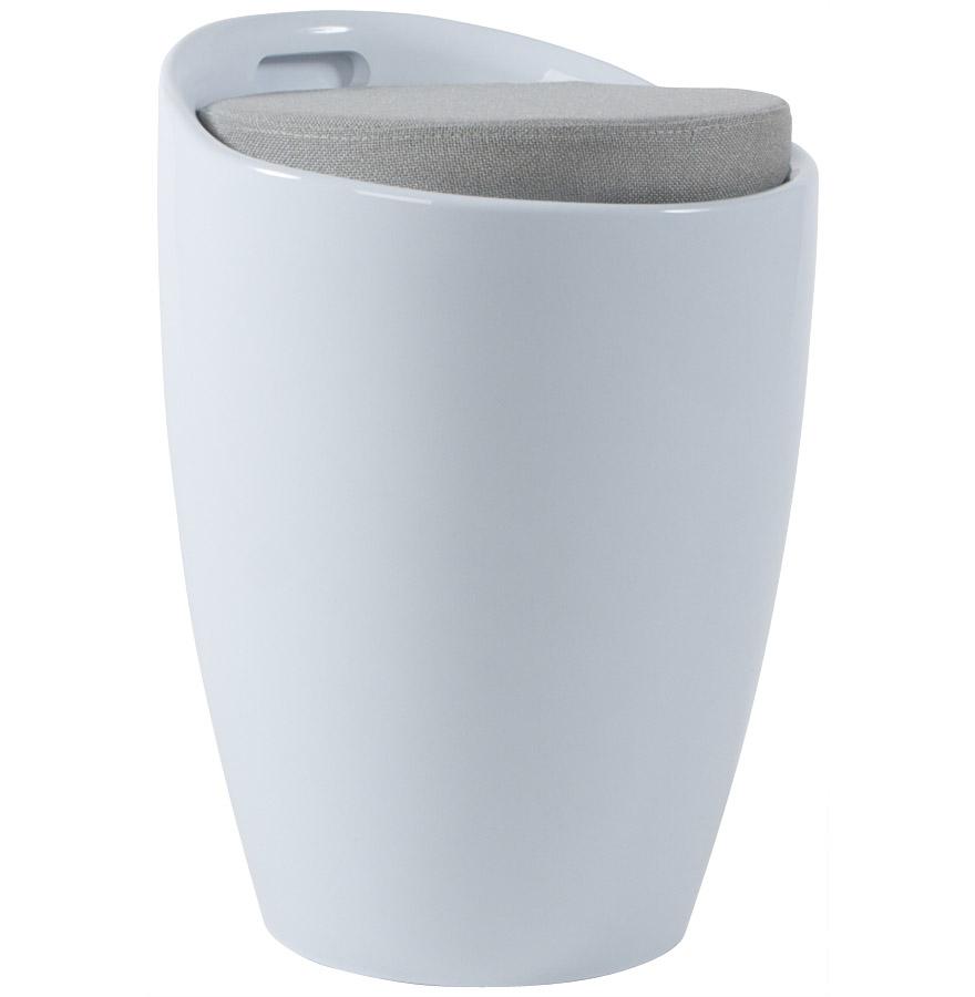 Tabouret Coffre Dappoint Gum Blanc