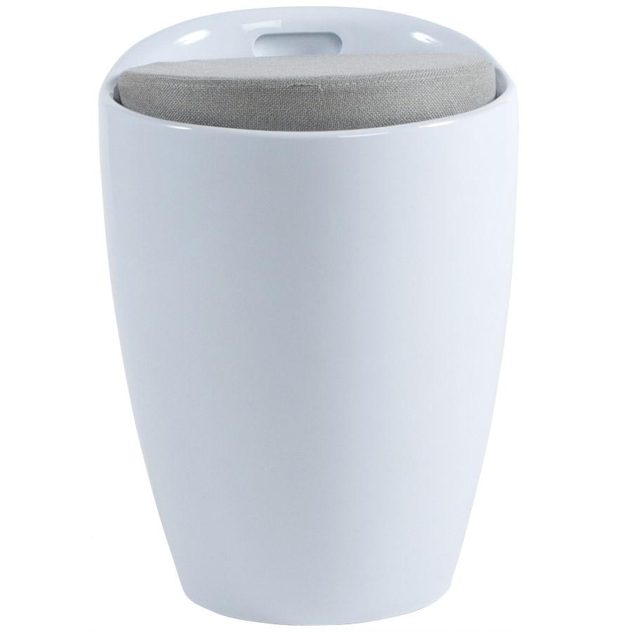 Tabouret coffre d´appoint ´GUM´ blanc