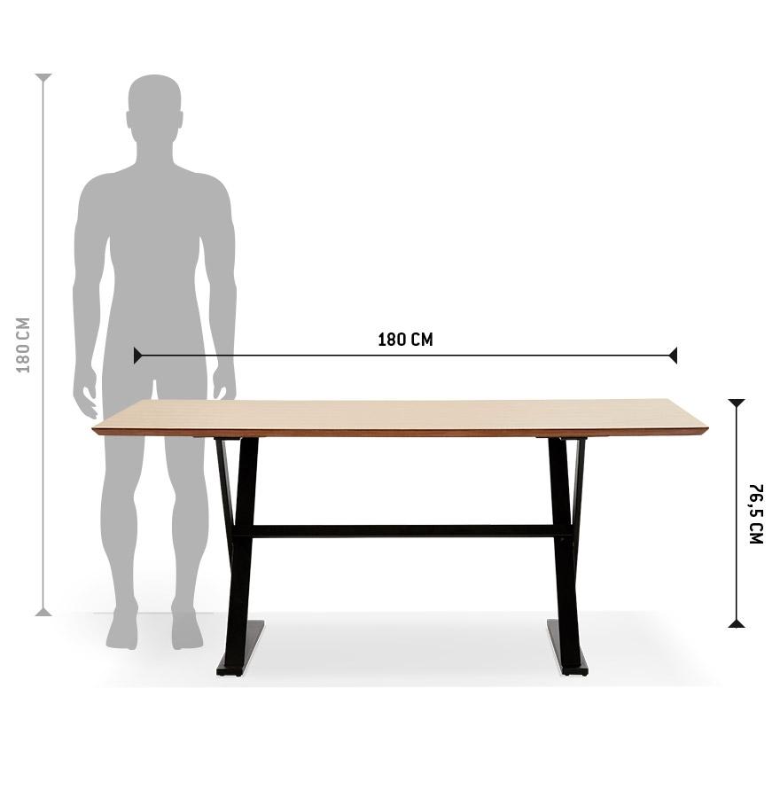 met kruis vormige voeten eettafel havana van hout met natuurlijk afwerking. Black Bedroom Furniture Sets. Home Design Ideas