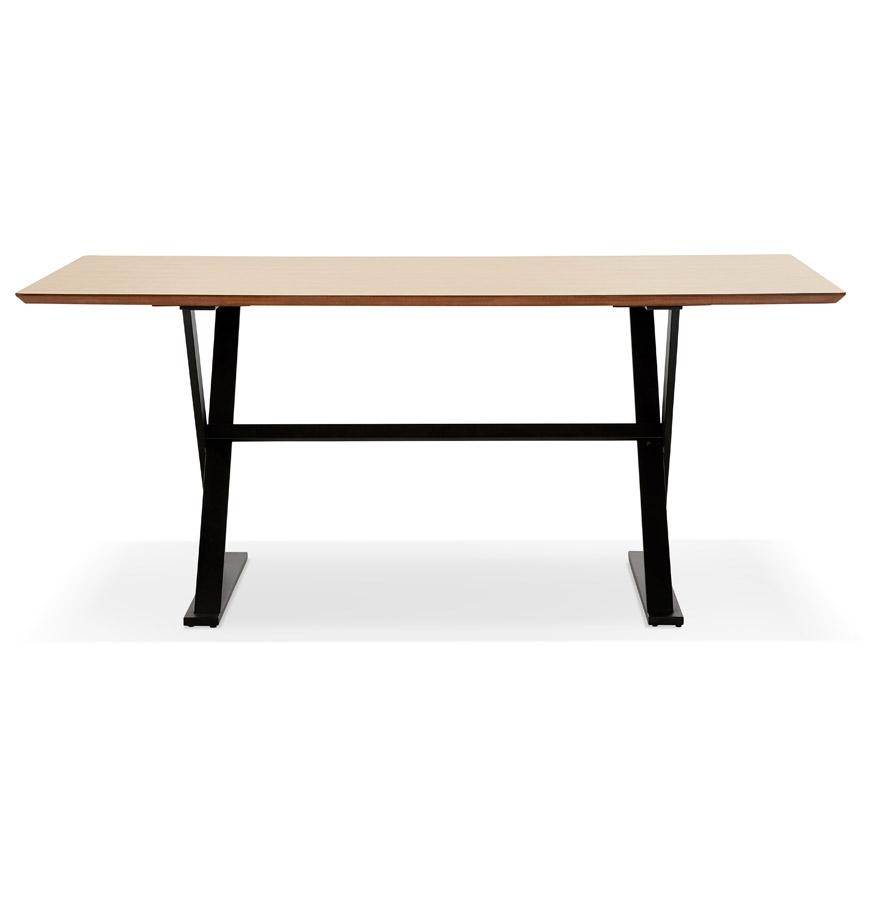 Table à diner / bureau design avec pieds en croix ´HAVANA´ en bois finition naturelle - 180x90 cm