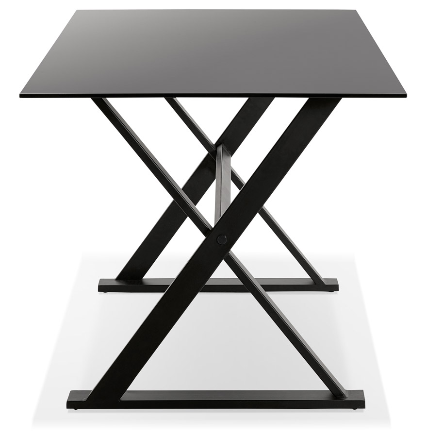 Design tafel havana van zwart glas modern bureau 160x80 cm for Bureau 100 cm