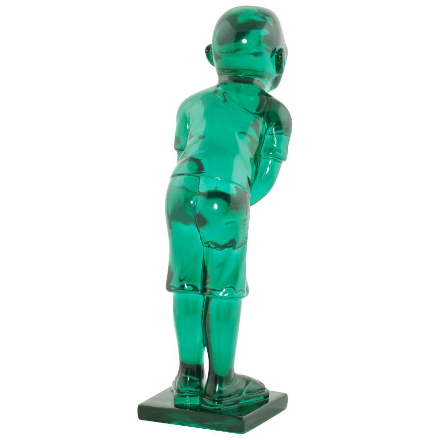 statue design hello statue d co bleue transparente. Black Bedroom Furniture Sets. Home Design Ideas