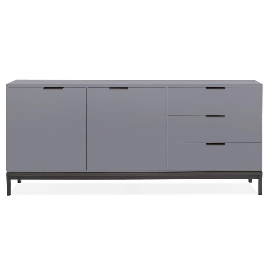Bahut design ´HIPPIE´ en bois gris