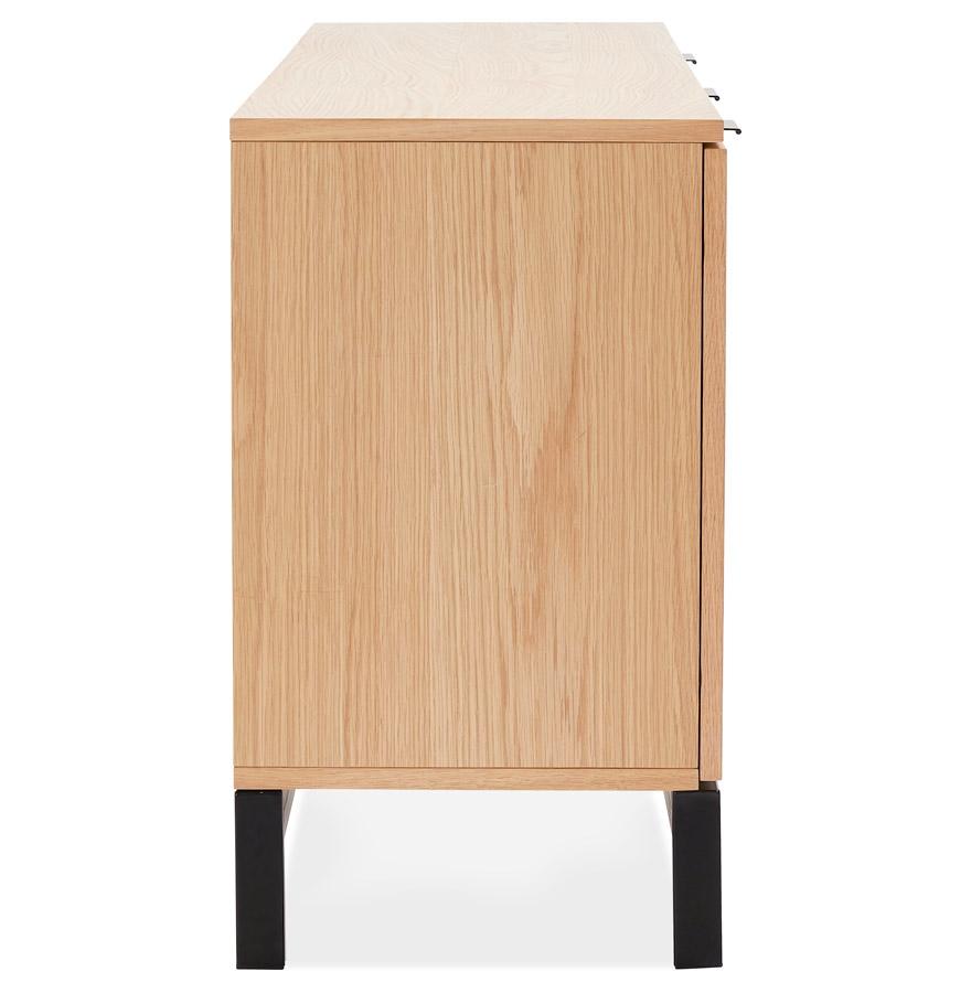 bahut design hippie en bois finition naturelle meuble de rangement. Black Bedroom Furniture Sets. Home Design Ideas