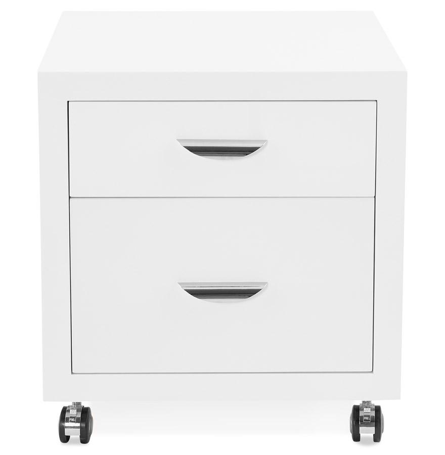 Caisson de rangement ´ICEBERG´ blanc à tiroirs pour bureau