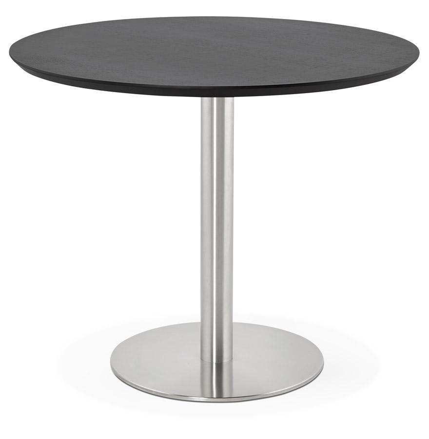 indiana black h2 01 - Petite table de bureau / à diner ronde ´INDIANA´ noire - Ø 90 cm