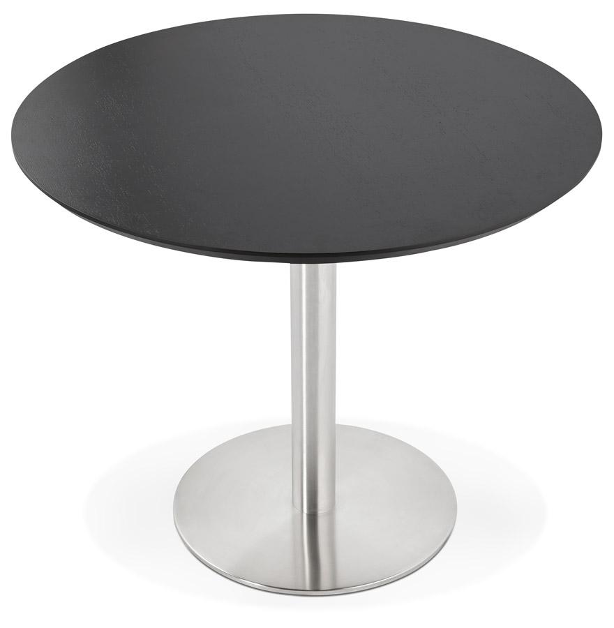 indiana black h3 01 - Petite table de bureau / à diner ronde ´INDIANA´ noire - Ø 90 cm