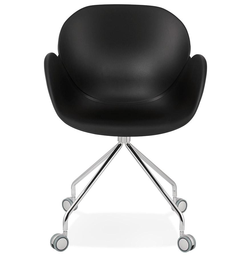 Chaise de bureau design ´JEFF´ noire sur roulettes