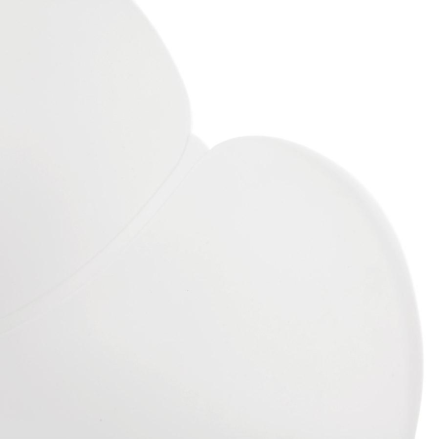 Chaise de bureau design ´JEFF´ blanche sur roulettes