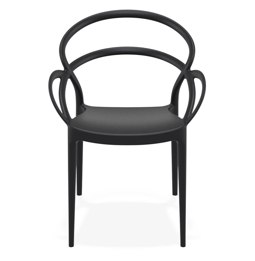 Chaise de terrasse ´JULIETTE´ design noire