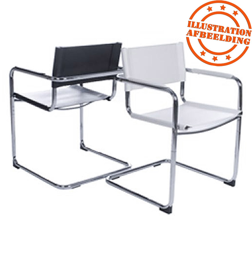 chaise visiteur ka noire pour bureau ou salle de r union. Black Bedroom Furniture Sets. Home Design Ideas