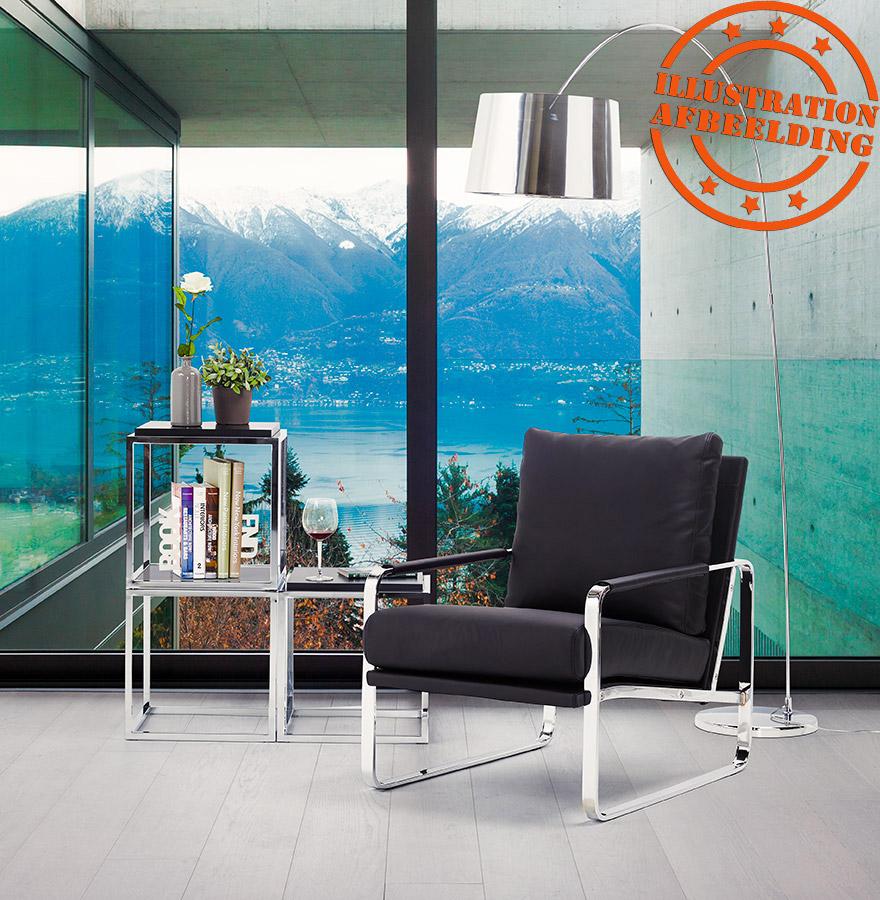 boogvormige chroomkleurige staanlamp kalipso design lamp. Black Bedroom Furniture Sets. Home Design Ideas