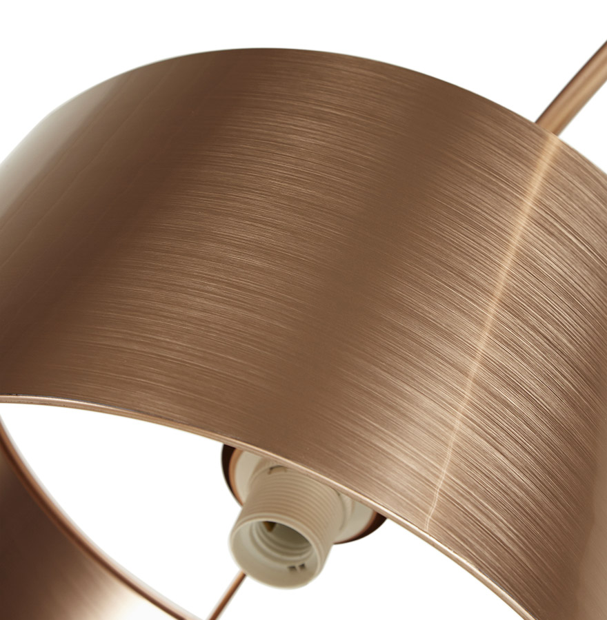lampadaire arqu kalipso couleur cuivre lampe copper. Black Bedroom Furniture Sets. Home Design Ideas