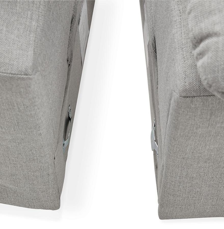 Design hoekbank kanap van grijze stof met longchair - Meubilair van binnenkomst grijs ...