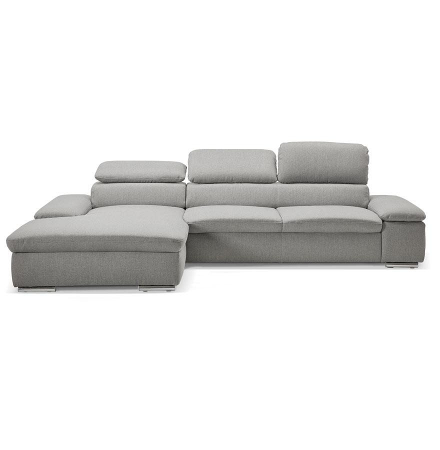 kanap grey h2 02c gauche 1 - Canapé d´angle ´KANAP´ gris avec méridienne (angle à gauche)